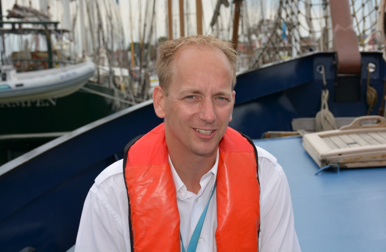 Thom Bijkersma: 'We leggen de lat hoog bij passagiersschepen, zeker ook bij zeilende hotelschepen.' (Foto: Gijs van Hesteren)