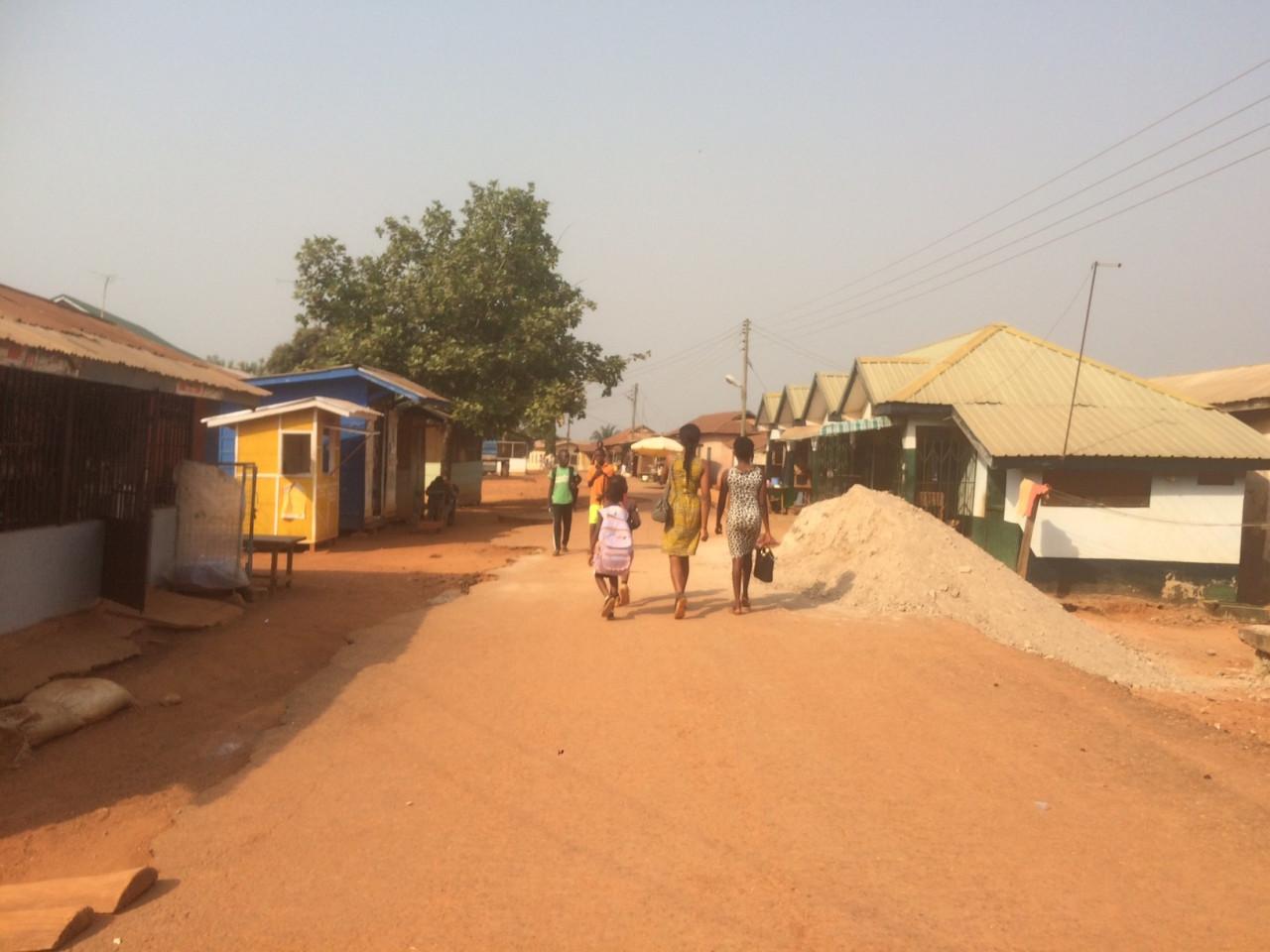 Het dorp Sagyimase