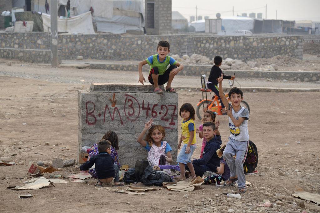 Jezidi-kinderen in het kamp Khanke in noord-Irak. ©Orlastraz/Wikimedia