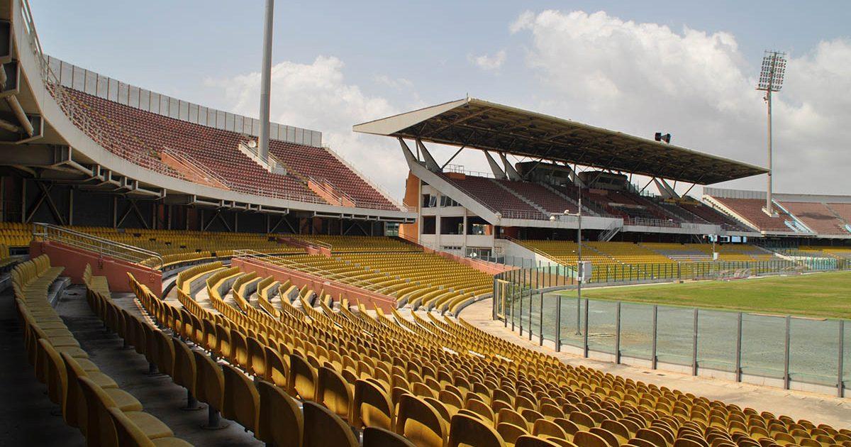 2001: stadionramp van Accra in het Accra Sports Stadium